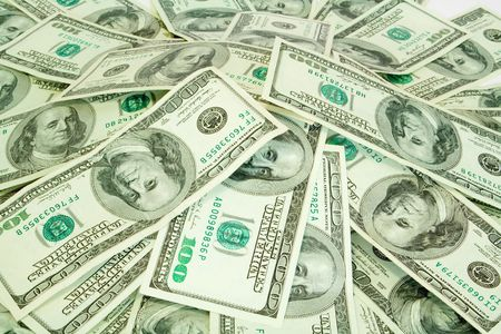 business concept. money background from dollars
