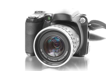 digicam: digital photo camera isolated on white