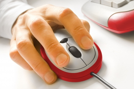 Hand and computer mouse Stock Photo - 3904753