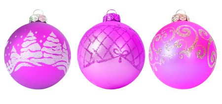 set of christmas decoration isolated on white photo