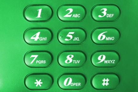 green phone keypad Stock Photo - 3987276