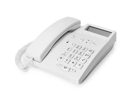 office phone isolated on the white background Stock Photo - 4389621