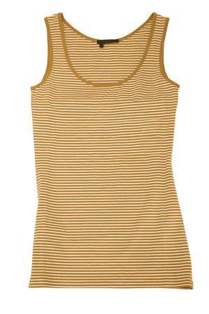 underwaist: orange sleeveless sports shirt isolated on white