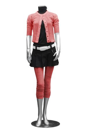 clothing on mannequin isolated on white Stock Photo