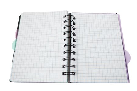 paper spiral notebook isolated on white. blank background Stock Photo - 5021753