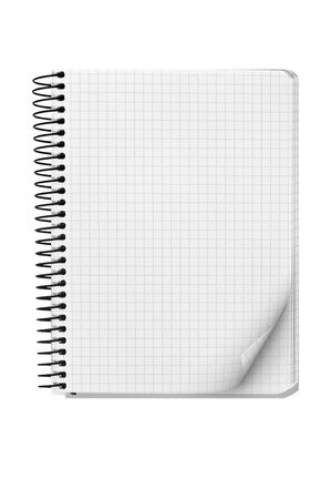 blank background. paper spiral notebook isolated on white Stock Photo - 5101447