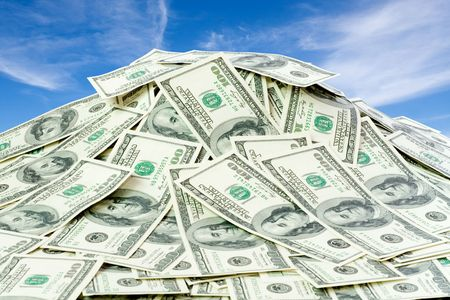 letra de cambio: el gran mont�n de dinero. d�lares EE.UU. Foto de archivo