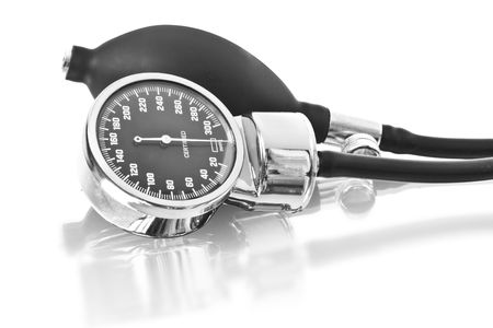 medicine object. blood pressure isolated on white background Stock Photo