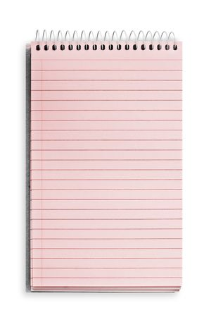 blank background. paper spiral notebook isolated on white Stock Photo - 5587101
