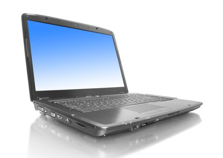 la tecnología informática. portátil aislados sobre fondo blanco Foto de archivo - 5587102