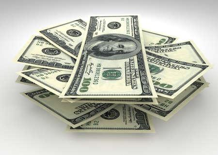 Money and finance concept - several dollars banknotes Reklamní fotografie