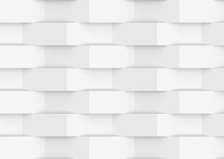Illustration of abstract grey and white mosaic background. 3d render