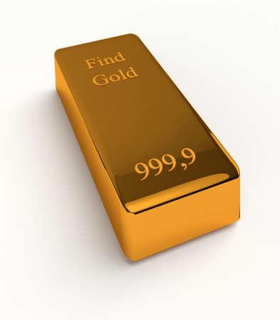 Bullions of gold isolated on white background. 3d render Reklamní fotografie