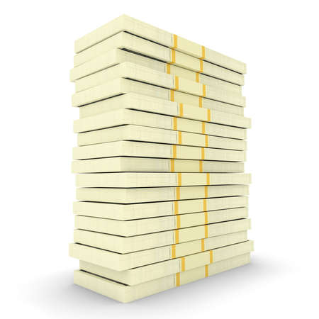 Illustration of big money stack from dollars usa. Finance concepts. 3d render Stock Photo