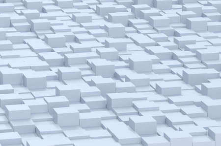 Illustration of abstract mosaic three-dimensional grey background. 3d render