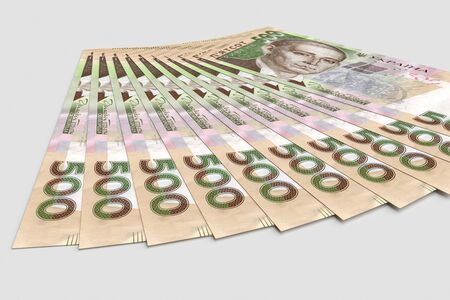 Stack of hryvnia ukrainian money. Business concept. 3d rendering 版權商用圖片 - 135474172