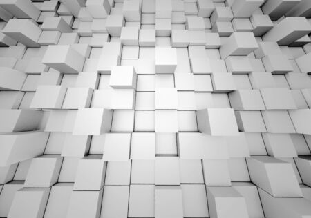 Illustration of abstract mosaic three-dimensional grey background. 3d rendering