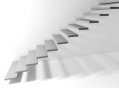 Staircase with steps in the air. Business concept. 3d rendering