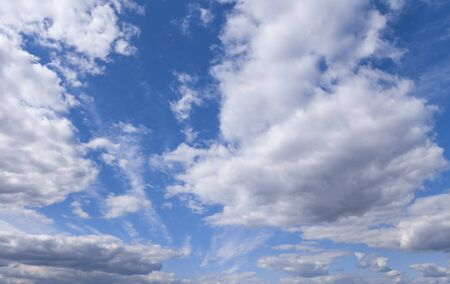 Nature background. Beautiful blue sky with cloud in day Stock Photo