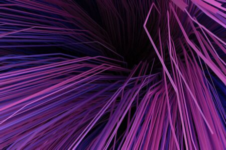 Abstract background with multicolored curved lines. 3d rendering