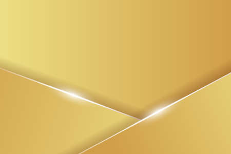 Abstract gold background with lines and shine effect. Vector illustration