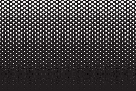 Black and white background with dot spot pattern. Seamless textured vector Illustration.