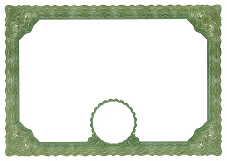Actual document border for diploma or sertificate