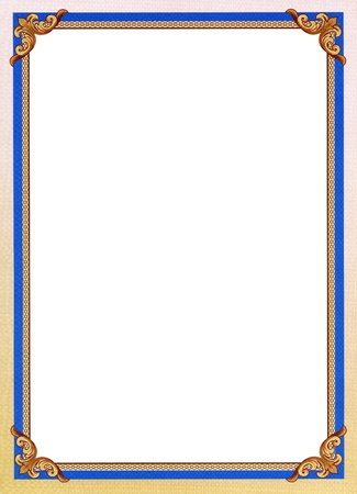 Actual document border for diploma or certificate