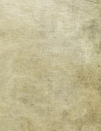 Natural linen striped stained textured sacking burlap background photo