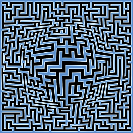 Abstract generated labyrinth maze background with sphere center photo
