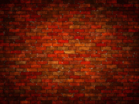 Abstract generated brick wall surface grunge background Stock Photo