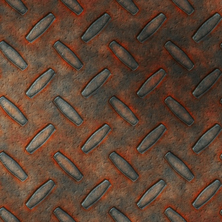 patina: Abstract generated rust metal diamond plate background