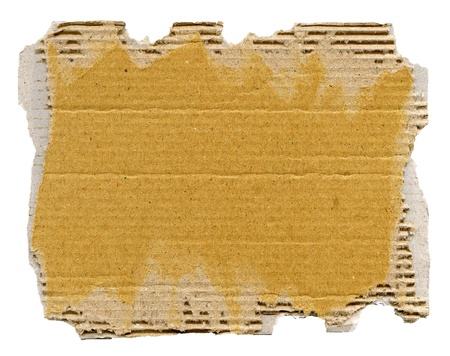 cardboard: Textured cardboard with torn edges isolated over white Stock Photo