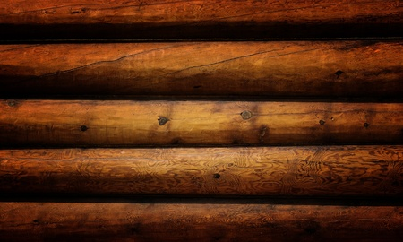 log cabin: Weathered wooden logs with natural pattern grunge background