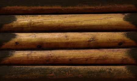 Weathered wooden logs natural pattern vintage background photo