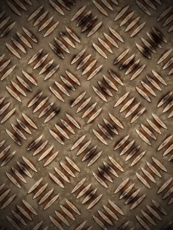 tread plate: Abstract generated diamond plate for background and design Stock Photo