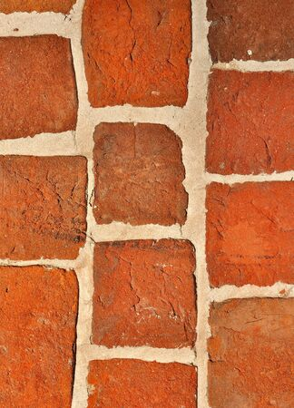 Old red bricks wall vintage background Stock Photo - 12854420