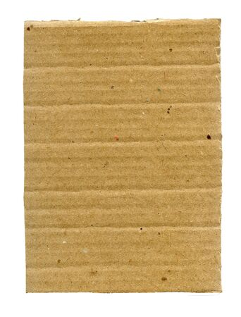 Textured ribbed recycled cardboard isolated on white photo