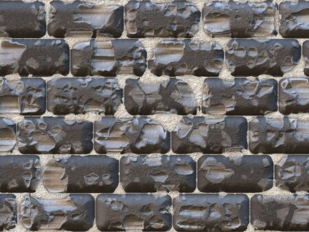 Abstract generated rough stone blocks wall surface background photo