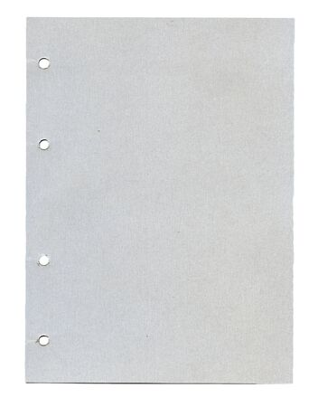 Grainy paper with holes isolated on white