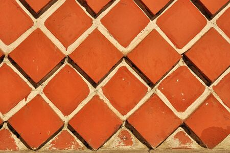 Red bricks textured closeup background Stock Photo - 13229893