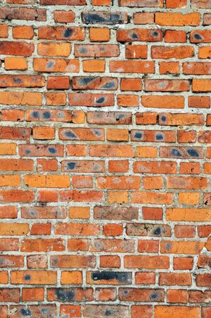Old red bricks weathered wall background Stock Photo - 13632959