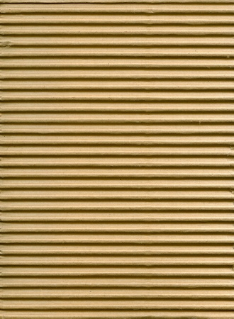 ribbed: Textured corrugated striped cardboard with natural fiber parts