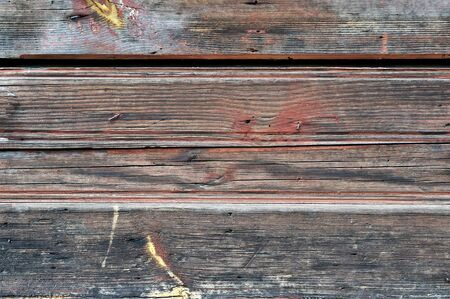 Obsolete weathered cracked painted wooden planks background photo