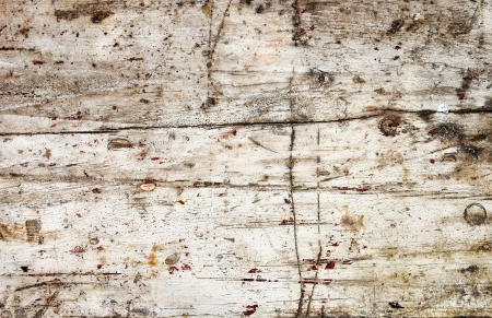 wood stain: Obsolete weathered cracked white painted wood background