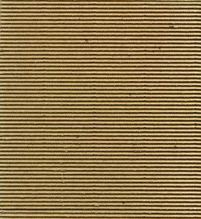 Textured corrugated striped cardboard with natural fiber parts photo