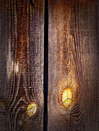 Obsolete wooden rough planks