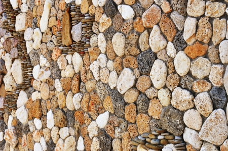Old weathered stone wall decoration vintage background photo