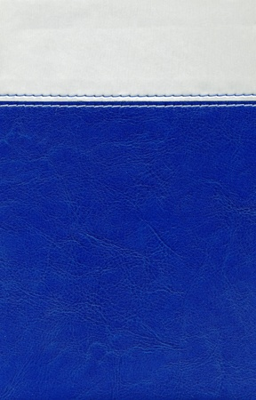 Leatherette blue grey stitched texture background design photo