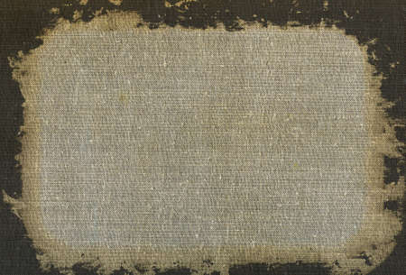 Natural linen striped dirty textured canvas burlap vintage background photo